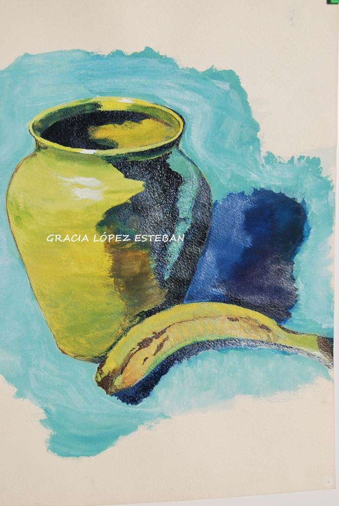 Bodegón - cuadro de Gracia López Esteban. Acuarela.
