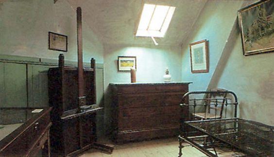 Habitación de Vincent van Gogh en la pensión Ravoux.