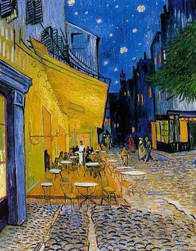 Cuadro de Vincent van Gogh. Terraza de Café.