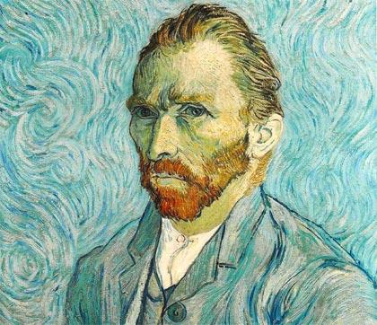 Auto-retrato de Vincent Van Gogh.