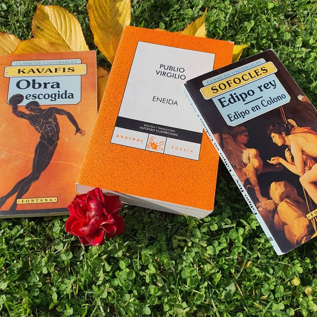 Obras clásicas: Eneida, Edipo Rey y Kavafis.