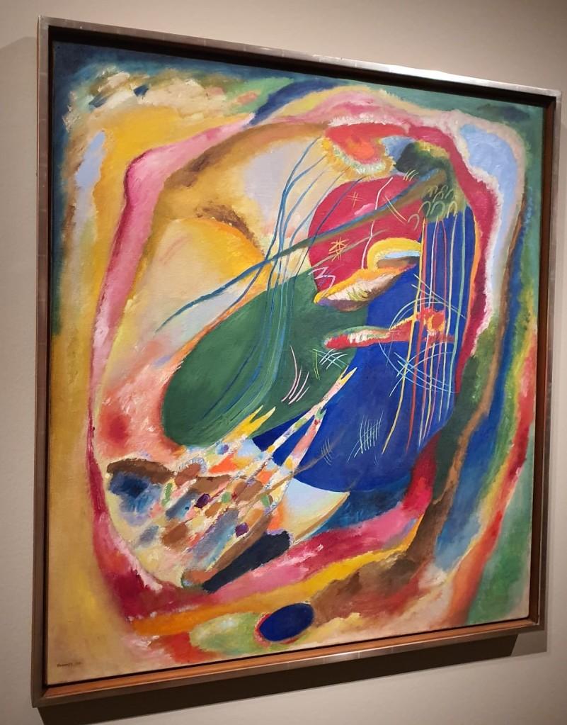 """""""Pintura con tres manchas"""", Kandinsky."""